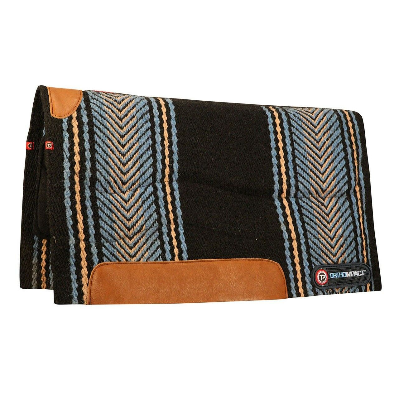 T3 System Felt Performance Western Saddle Pad with Extreme Pro  and Wear Leathers  at cheap