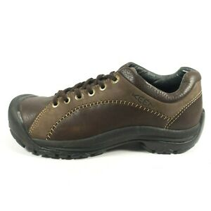 keen brown leather lace up casual walking hiking oxford