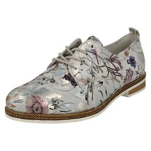 Remonte silver Shoes Lace Ladies Up D2602 Metallic SxCqv0Aw