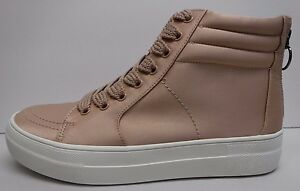 Steve-Madden-Size-7-5-Blush-Satin-Sneakers-New-Womens-Shoes