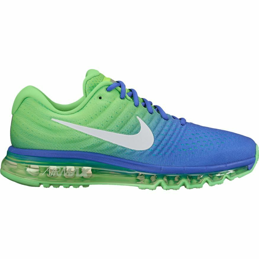 2cee285bb2 Men's Nike Air Max 2017 Running shoes 849559-403 PARAMOUNT blueE WHITE-ELECTRO  GRN