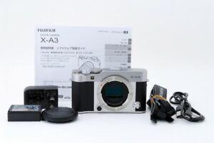Fujifilm X-A3 Mirrorless Fotocamera 24.2MP Corpo Only Argento EXC Da Giappone #