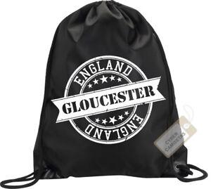 Gloucester-Backpack-Bag-Gloucester-England-UK-Stamp-Gym-Flag-Handbag-Sport