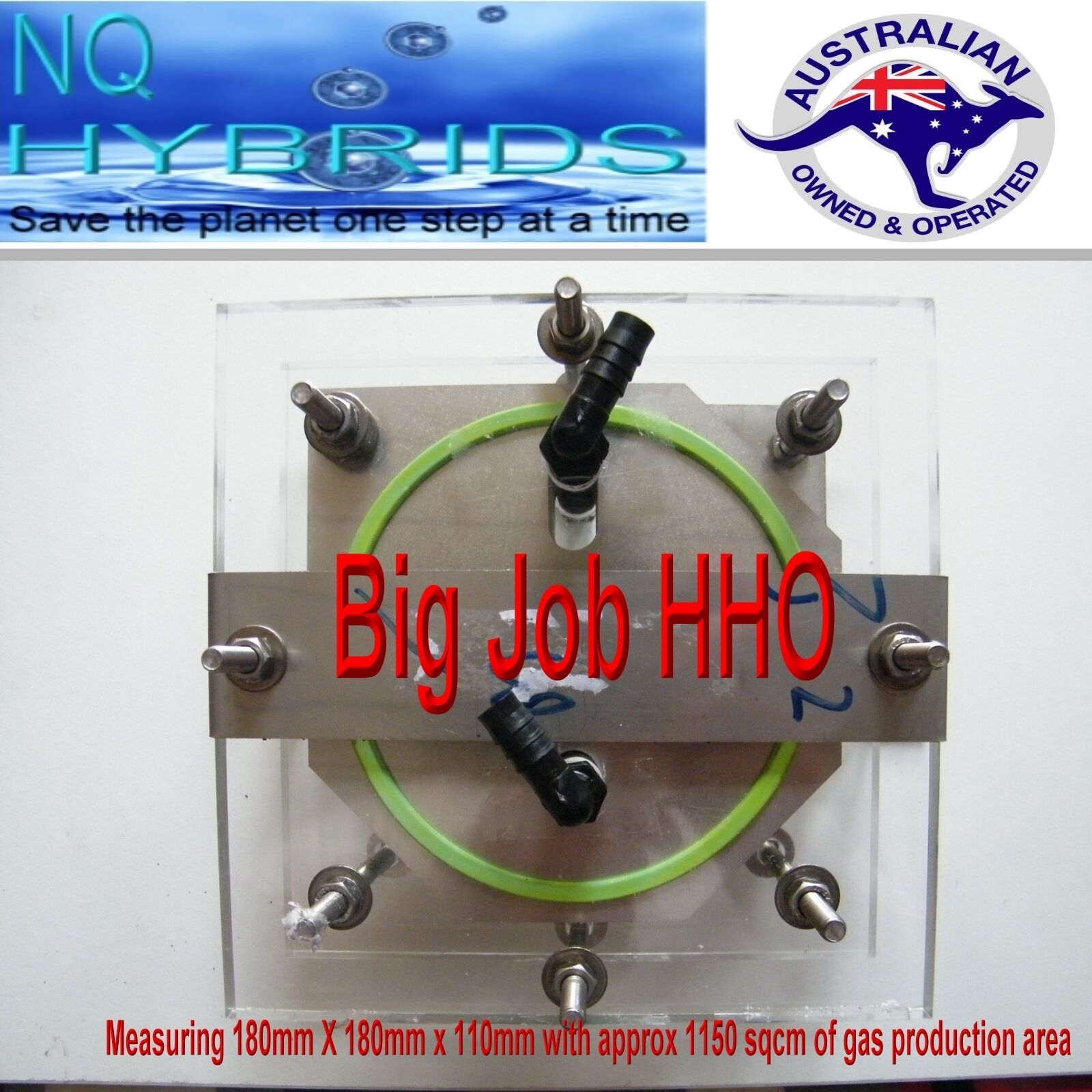 HHO GAS TORCH. HYDROGEN 11 PLATE  GENERATOR  POWERED KIT