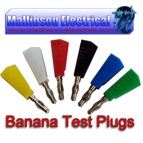 Banana Plugs Test Plomb Lanterne type empilable Fiche Plug