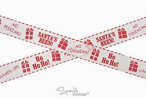 Santa-039-s-Been-Christmas-Security-Tape-for-Gifts-Presents-Fun-Xmas-Decoration-5m