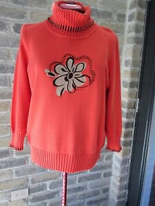 Knit-Pullover-Sweater-GOLLEHAUG-Collection-Cotton-Acrylic-Sz-14-Cowl-neck-Germ