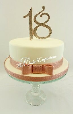 Surprising Xl Large Diamante Rhinestone Birthday Number 18 21 Rose Gold Cake Funny Birthday Cards Online Elaedamsfinfo