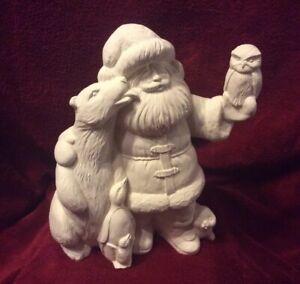 Ceramic-Bisque-Ready-to-Paint-Polar-Bear-Santa