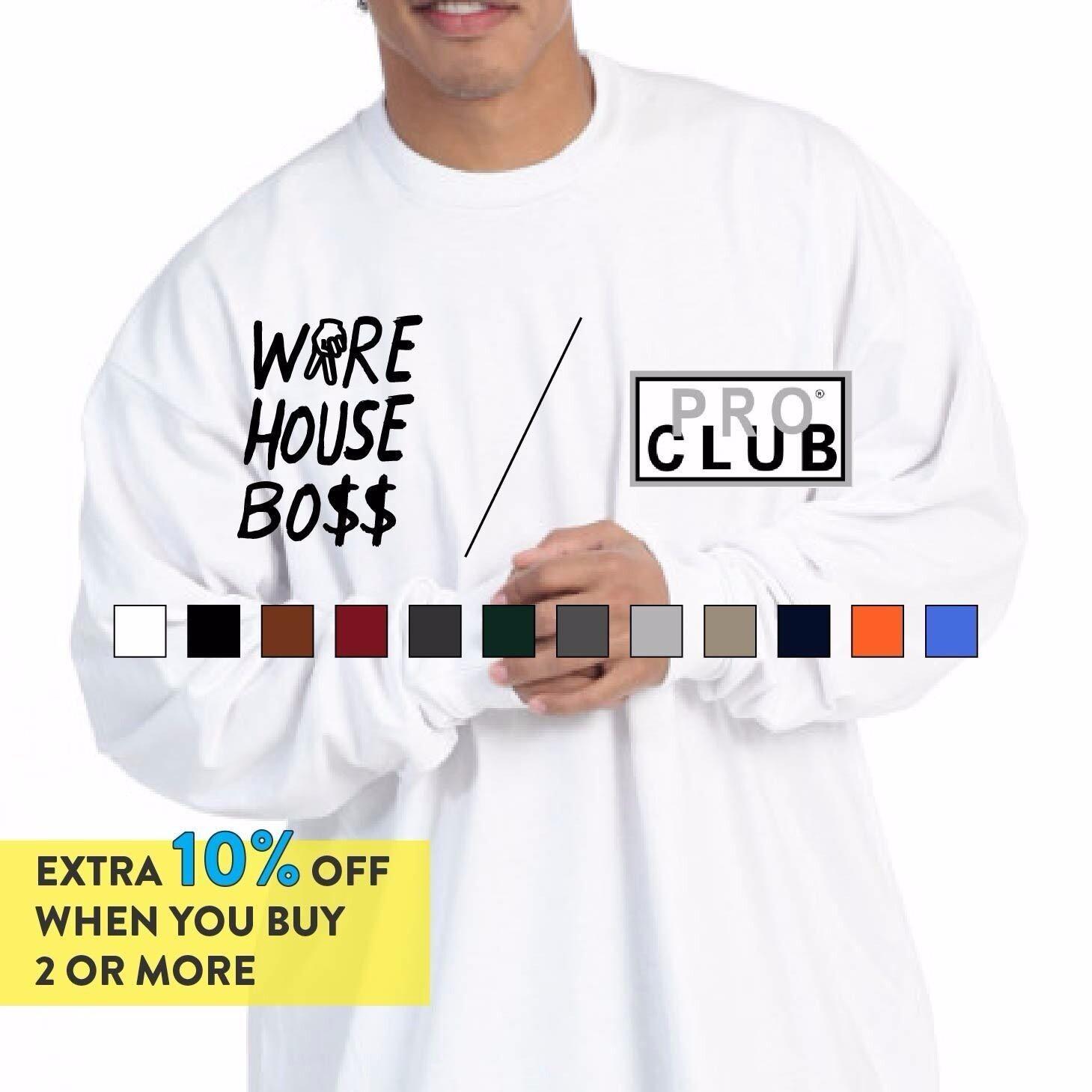 2 NEW PROCLUB 4XL HEAVY WEIGHT T-SHIRTS BLACK PLAIN TEE PRO CLUB BLANK 2PC