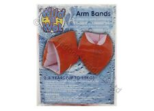 2pc Orange Kids Swim Saftey Armbands Inflatable Float Childrens Baby 1- 6 Years