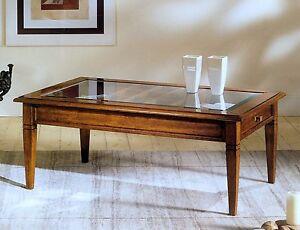 Tavolino Salotto Noce.Dettagli Su Tavolino Da Salotto Noce Italiana C Cassetto E Bacheca Piano Vetro O Legno H789