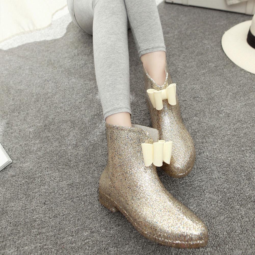 Las NUEVAS SEÑORAS cinta cinta cinta de goma impermeable botas de Lluvia Zapatos Arco Jalea Botines Al Tobillo  hasta un 70% de descuento