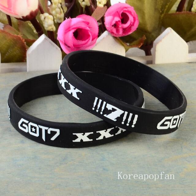 2pc Got7 Jackson mark bambam goods black wristbands KPOP NEW