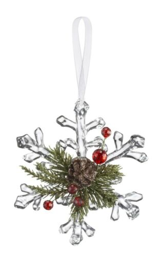 Ganz H8 Kissing Krystals Mistletoe Pine Snowflakes 4.5in Ornament KK426 Choose