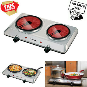 Electric-Cooktop-Burner-Infrared-Ceramic-Glass-Hot-Plate-2-Two-Cooking-Stove