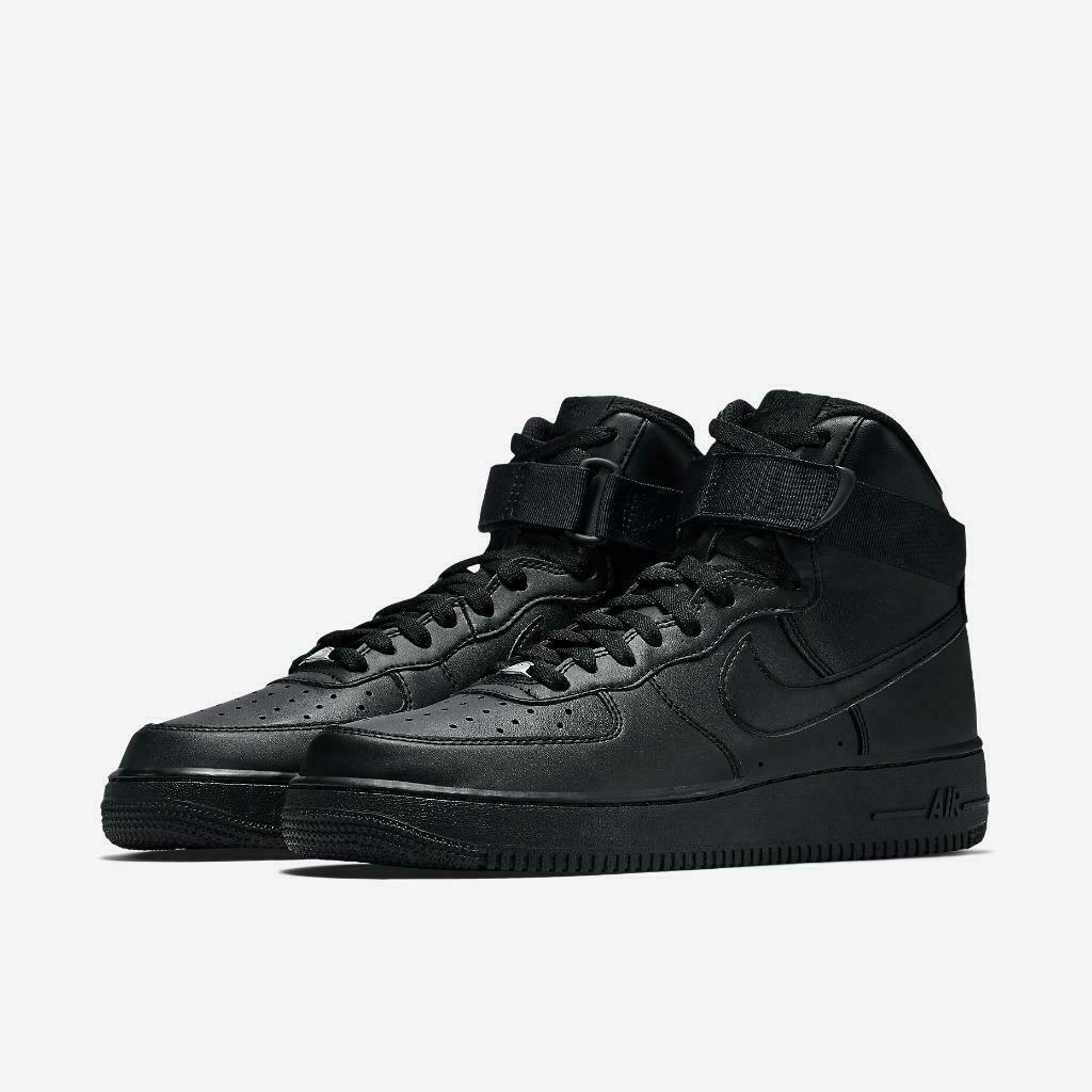 Mens Nike Force 1 Hgh '07 315121-032 Black Black NEW Size 9.5