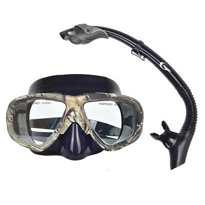 Divers Adult Mask /& Snorkel Glasses Set Dive Snorkeling Scuba Diving Swimming