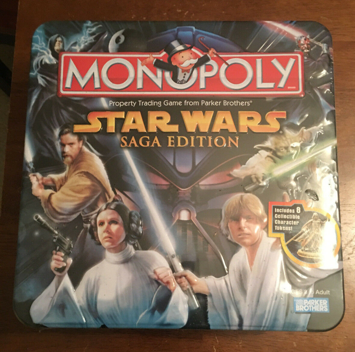 Star Wars Saga Edition Monopoly Game - LIMITED EDITION TIN - sealed in 2005