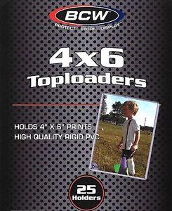 25 New 4X6 Rigid Topload Holder Photo Postcard 4 X 6 Toploader