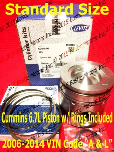 Dodge CUMMINS 6.7 6.7L PISTON STANDARD w//Rings 2006-2014 MAHLE