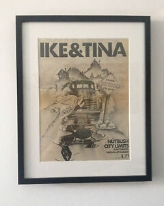1973 Ike & Tina Turner Nutbush City Limits Original Vintage Poster Ad Framed - Deutschland - 1973 Ike & Tina Turner Nutbush City Limits Original Vintage Poster Ad Framed - Deutschland