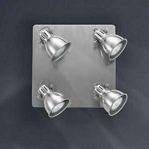 Retrofit-Lampara-LED-de-techo-Spot-4-lamparas-Gris-Perla-Para-Cocina-Salon