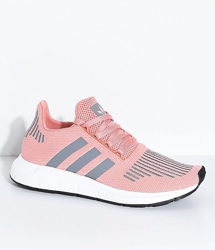 Adidas Swift Run Trace Pink & Grey Shoes Sneakers All Woman's Sizes NWTS