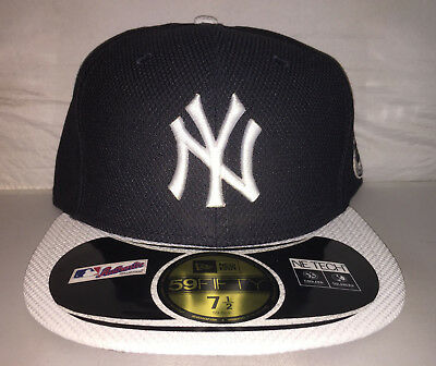 100% Vero Vintage New York Yankees Derek Jeter New Era Cappello Aderente Pensione Misura 7