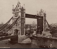 ca. 1898 Tower Bridge London Hood's Sarsaparilla ship Photos of World Cure Card