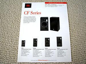 jbl cf series speaker full product line brochure ebay. Black Bedroom Furniture Sets. Home Design Ideas