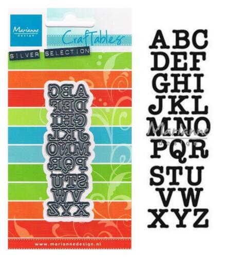 1 CRAFTABLES Stanzschablone MARIANNE DESIGN Punch DIE Buchstaben ABC 1417