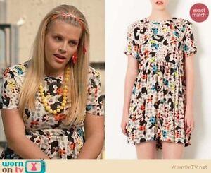 Topshop-Fun-Leopard-Print-Tunic-Smock-Mini-Dress-Top-size-6