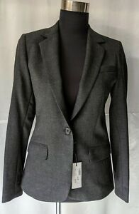 Womens-Jacket-Dark-grey-Italian-stretch-wool-Made-in-Australia-Bargain