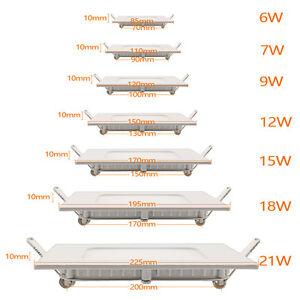 Ultraslim-LED-Panel-Einbaustrahler-Deckenleuchte-Wandleuchte-Einbauleuchte-Lampe