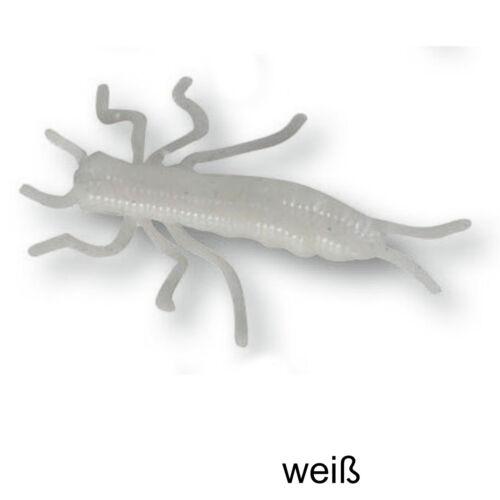 7 Softbaits für Forelle Paladin Geflavourte Gummiköder Nymphe 5cm schwimmend
