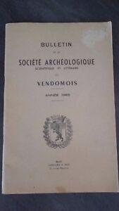 Notiziario Della Società Archeologico Del Vendômois 1965 Blois IN 8 Be