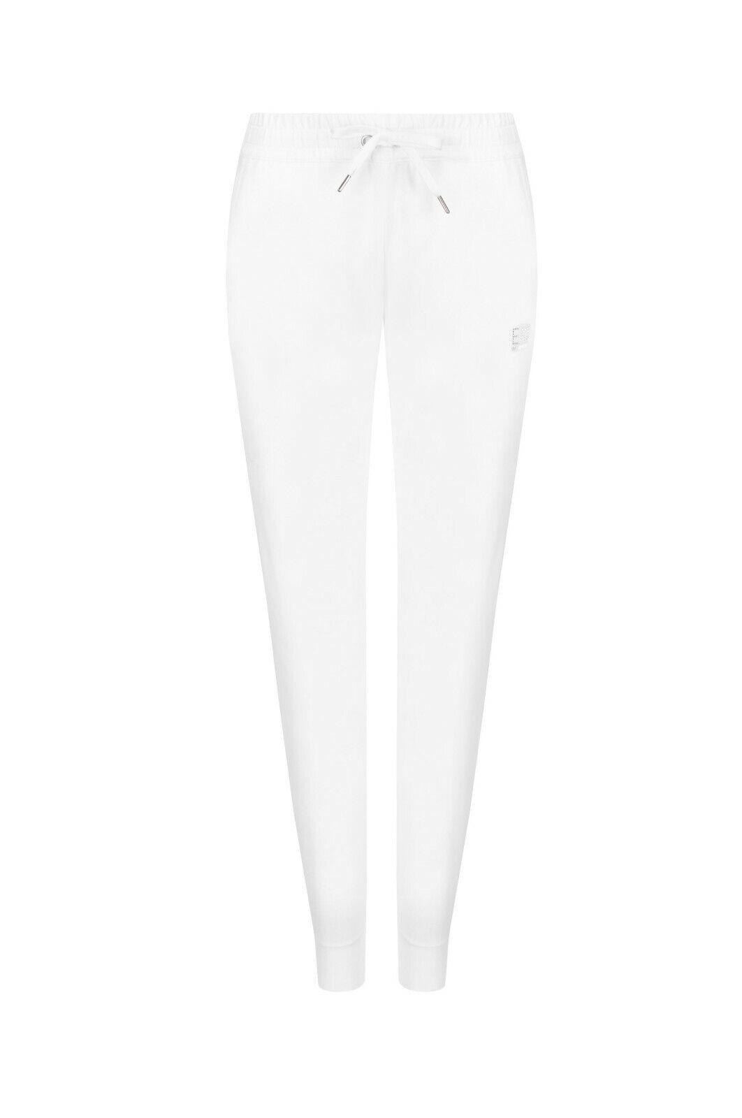 EA7 Emporio Armani damen Joggers Sweatpants Weiß Rhinestones Größe XS