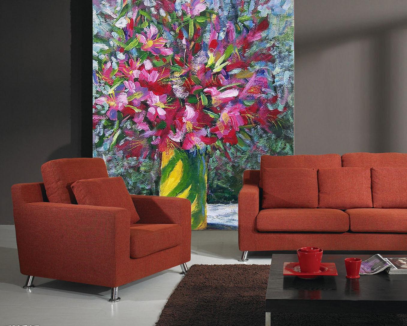 3D Painted Petal Vase 13 Paper Wall Print Wall Decal Wall Deco Indoor Murals