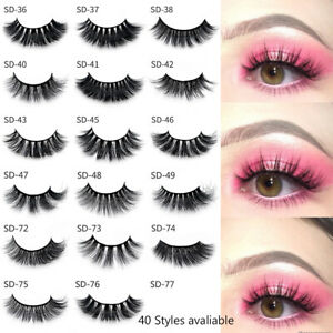1Pair-100-Mink-Hair-Natural-Long-Eye-Lashes-False-3D-Eyelashes-Handmade-Makeup