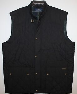 Polo-Ralph-Lauren-Big-and-Tall-Mens-Black-Quilted-Down-Jacket-Vest-NWT-275-2XLT