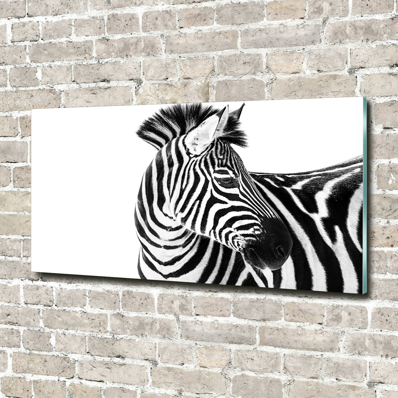 Acrylglas-Bild Wandbilder Druck 140x70 Deko Tiere Zebra im Schnee