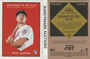 Pete-Alonso-NEW-YORK-METS-TOPPS-2019-THROWBACK-47-1961-MVP-ROY-TBT-283-SP-879-RC
