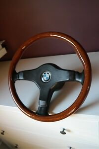 Wood steering wheel BMW E30 E34 M5 M3 M TECHNIC - <span itemprop='availableAtOrFrom'>Broxburn, United Kingdom</span> - Wood steering wheel BMW E30 E34 M5 M3 M TECHNIC - Broxburn, United Kingdom