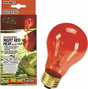 Zilla 09922 Night Red Incandescent Heat Bulb 100 Watt