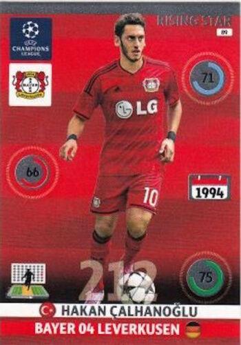 individuales Rising Star Tarjetas Adrenalyn Xl Champions League 14//15 Trading Cards