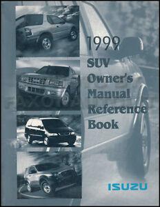 1999 isuzu owners manual vehicross oasis hombre rodeo owner rh ebay com 1998 Isuzu Hombre Problems 1998 Isuzu Hombre Key Blanks