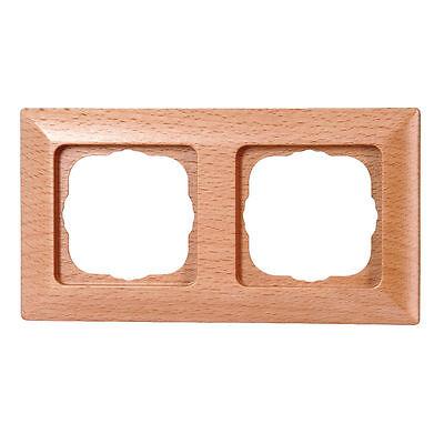 Kopp Abdeckrahmen Abdeckung Rahmen 2fach Milano Echtholz Buche Holz Neuware