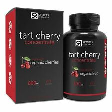 Tart Cherry Concentrate - Made from Organic Cherries - 60 Liquid Softgels