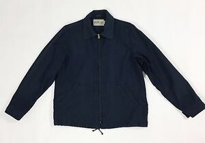 Replay-blue-jeans-giacca-M-cotone-usata-uomo-jacket-boyfriend-leggera-blu-T1820